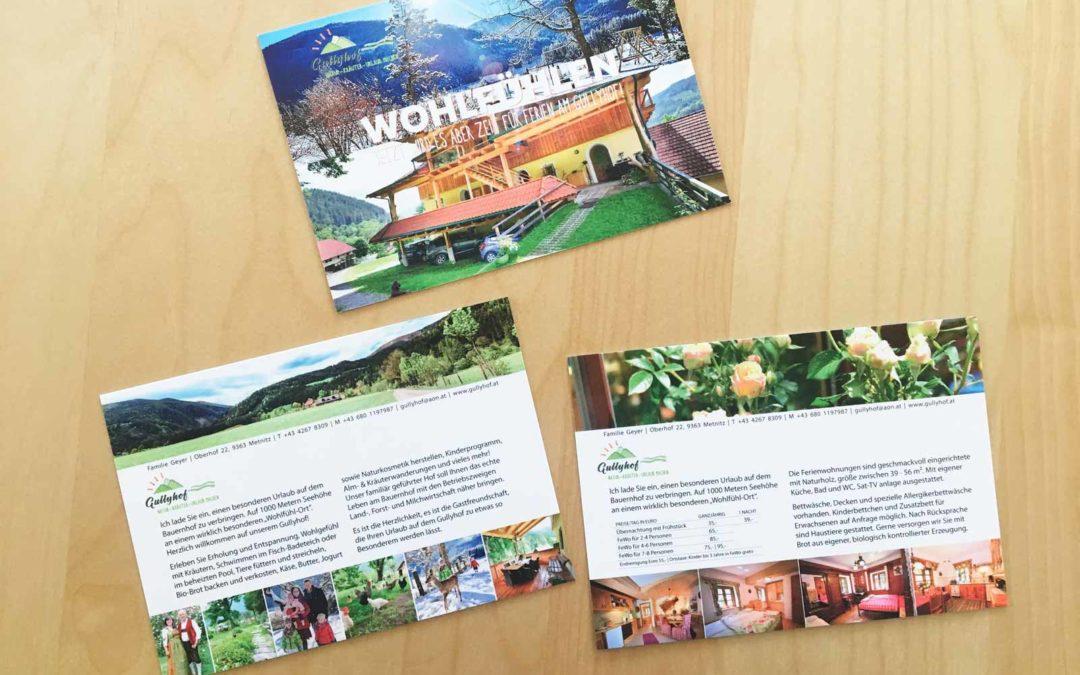 Gullyhof Postkarten Wohlfühlen&Appartements